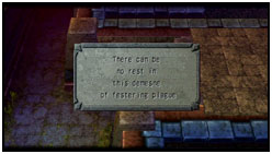 Exploration: Plaque with clue