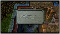 Exploration: Plaque that taunts